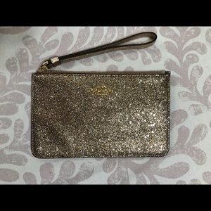 Coach Gold and Glitter Wristlet